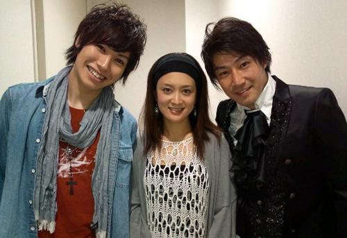 Kouhei (Ichigo), Miki (Rukia) and Tsuda-san (Ukitake)