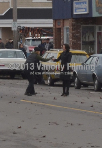 Lana on set of a 1983 Storybrooke