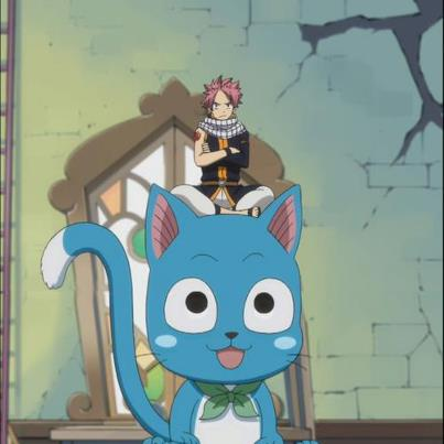 Little Natsu and Huge Happy :)