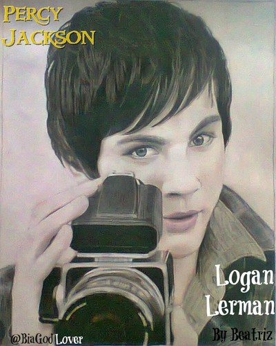 Film wallpaper called Logan Lerman Drawing