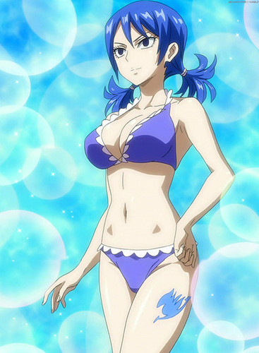 Fairy Tail wallpaper containing a bikini titled Lucy,Juvia,Erza