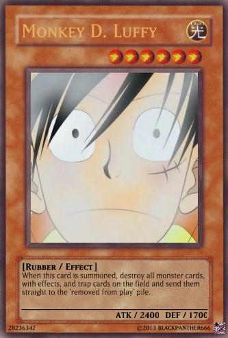 Luffy Yugioh Card
