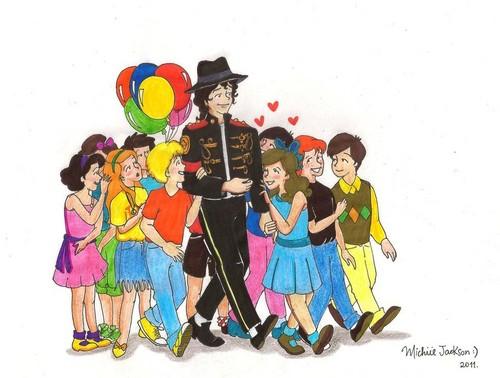 MJ and kids