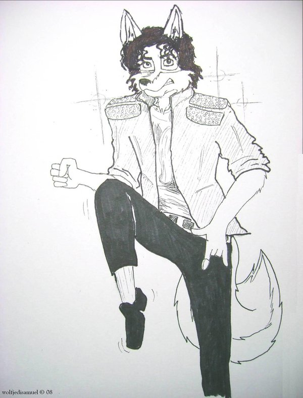 MJ as a furry: Beat it