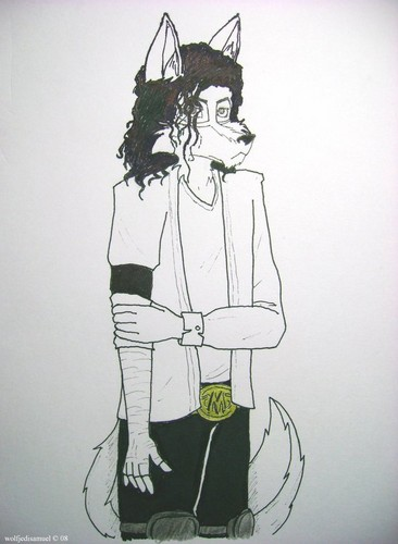 MJ as a furry: Black of White