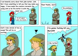 The Legend of Zelda wallpaper containing anime called Mario, Link and Toon Link joke