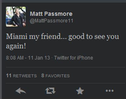 Matt Passmore Tweets