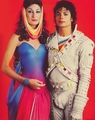 "Michael And ""Captain Eo"" Co-star, Anjelica Houston - michael-jackson photo"