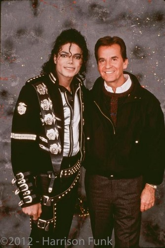 Michael And Television Personality, Dick Clark