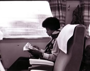 Michael Reading While Traveling door Train