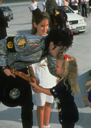 Michael and a little girl