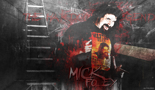 WWE wallpaper containing anime entitled Mick Foley wallpaper