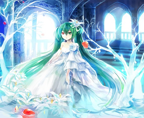 hatsune miku wallpaper probably with a bouquet called Miku