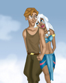 Milo and Kida - disneys-couples fan art