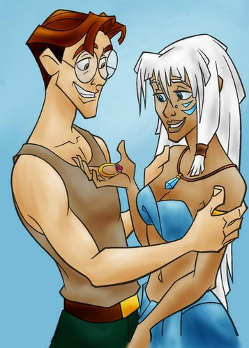 Disney's Couples 바탕화면 possibly with 아니메 titled Milo and Kida