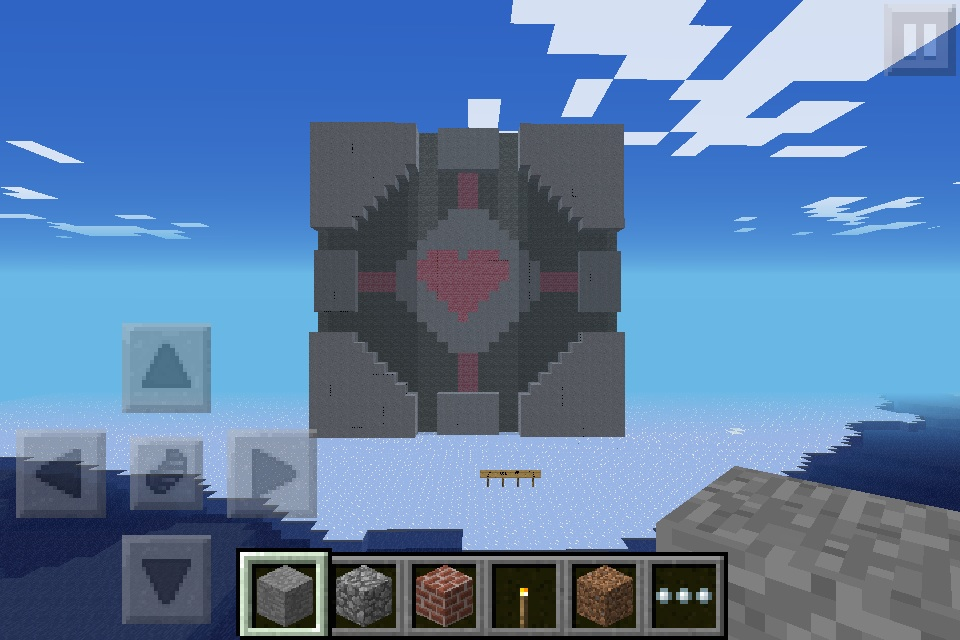 portal the game images minecraft companion cube hd wallpaper and