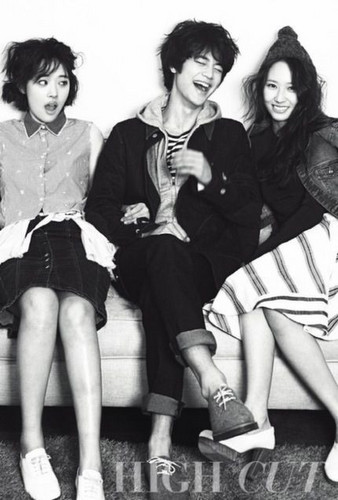 Shinee wallpaper titled Minho , Sulli and krystal for High Cut
