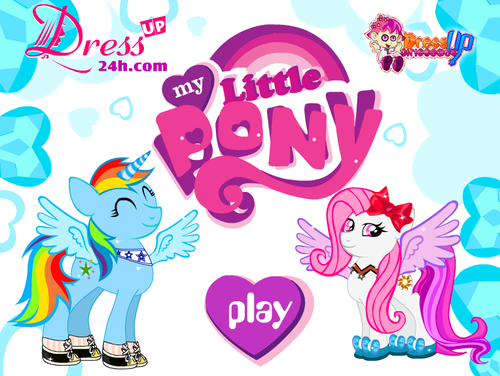 My Little poni, pony Dressup Game