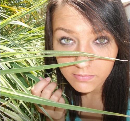 My bright green eyes