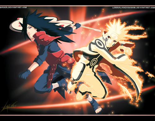 Uzumaki Naruto (Shippuuden) Hintergrund with Anime titled Naruto Vs. Madara
