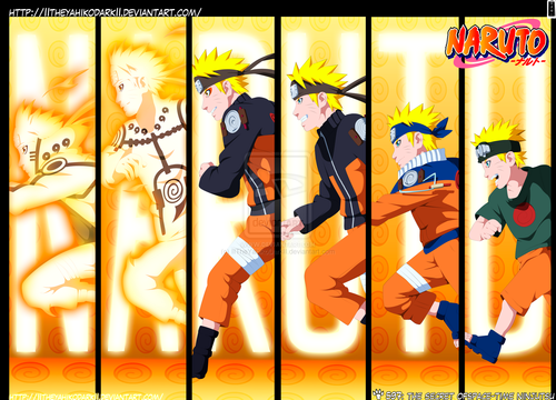 Naruto wallpaper probably with a stained glass window entitled Naruto evoliution