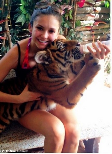 Nina & a tiger