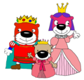 Prince Peanut, Princess Jelly, and Princess Butter