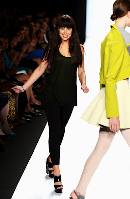 Project Runway wallpaper with a well dressed person entitled Project Runway Season 10 Finale Collections: Elena Slivnyak.