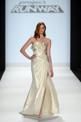 Project runway, start-und landebahn Hintergrund with a gown, a bridal gown, and a ball kleid called Project runway, start-und landebahn Season 10 Finale Collections: Ven Budhu.