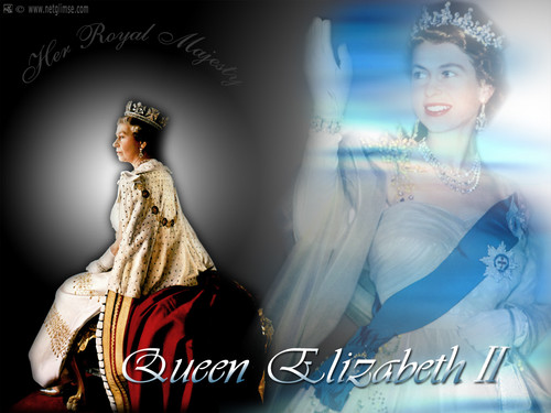 Queen Elizabeth II wallpaper containing a dinner dress titled Queen Elizabeth II