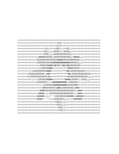 बिना सोचे समझे ASCII from http://lucilyne.centerblog.net/rub-dessins-en-ascii-pour-com--5.html