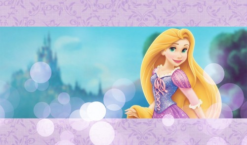 Disney Princess achtergrond with a portrait called Rapunzel