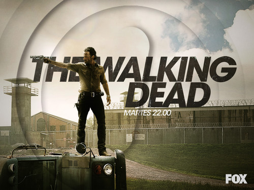 Os Mortos-Vivos wallpaper possibly containing a sign, a street, and a show, concerto called Rick Grimes