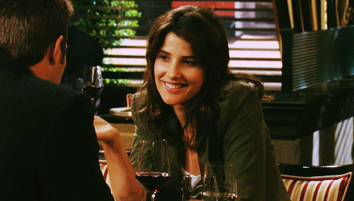 Robin Scherbatsky wallpaper probably containing a bistro, a brasserie, and a business suit entitled Robin