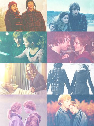 parejas de películas fondo de pantalla titled Ron & Hermione ♥