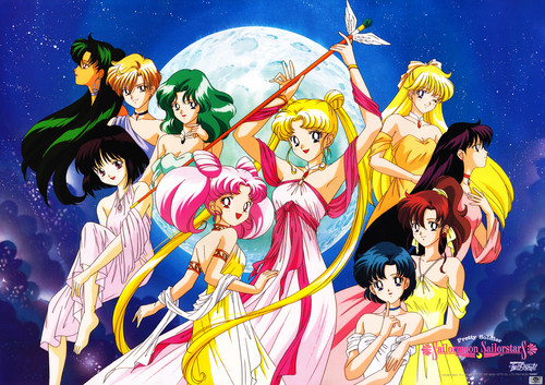 Sailor Moon karatasi la kupamba ukuta with anime titled Sailor Moon