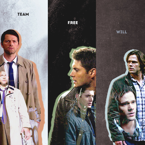 Supernatural wolpeyper possibly with a business suit called Sam, Dean & Castiel