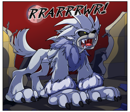 Silver the Werehog transformation Pg. 9