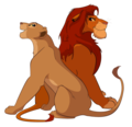 Simba & Nala - lion-king-couples photo