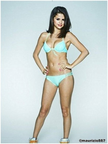 Selena Gomez karatasi la kupamba ukuta probably with attractiveness, a bikini, and a swimsuit titled Spring Breakers promo