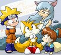 Tails meets naruto