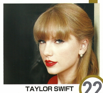 Taylor is featured on the cover of the January 2013 issue of InRock
