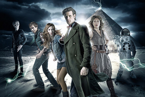 The Doctor, Amy, Rory and River
