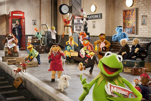 The Muppets দেওয়ালপত্র probably with a রাস্তা entitled The Muppets...Again First Look