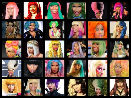 The many haircolors/styles of nicki minaj