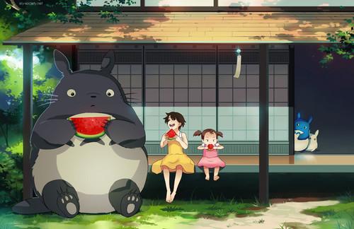 My Neighbor Totoro fond d'écran entitled Totoro