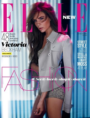 Victoria Beckham: Elle UK - March 2013