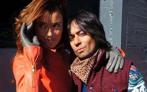 Vik Sahay with Cote de Pablo