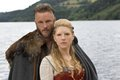 Vikings History channel 2013 Travis Fimmel & Katheryn Winnick - travis-fimmel photo