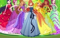 Winx Club in Beautiful Dresses